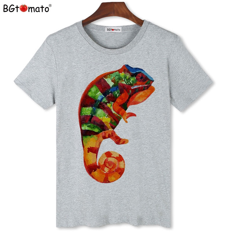 BGtomato, camiseta superfresca de chameleon, camisetas de verano a estrenar originales para hombre, camisetas casuales de manga corta, camisetas de marca de oferta barata