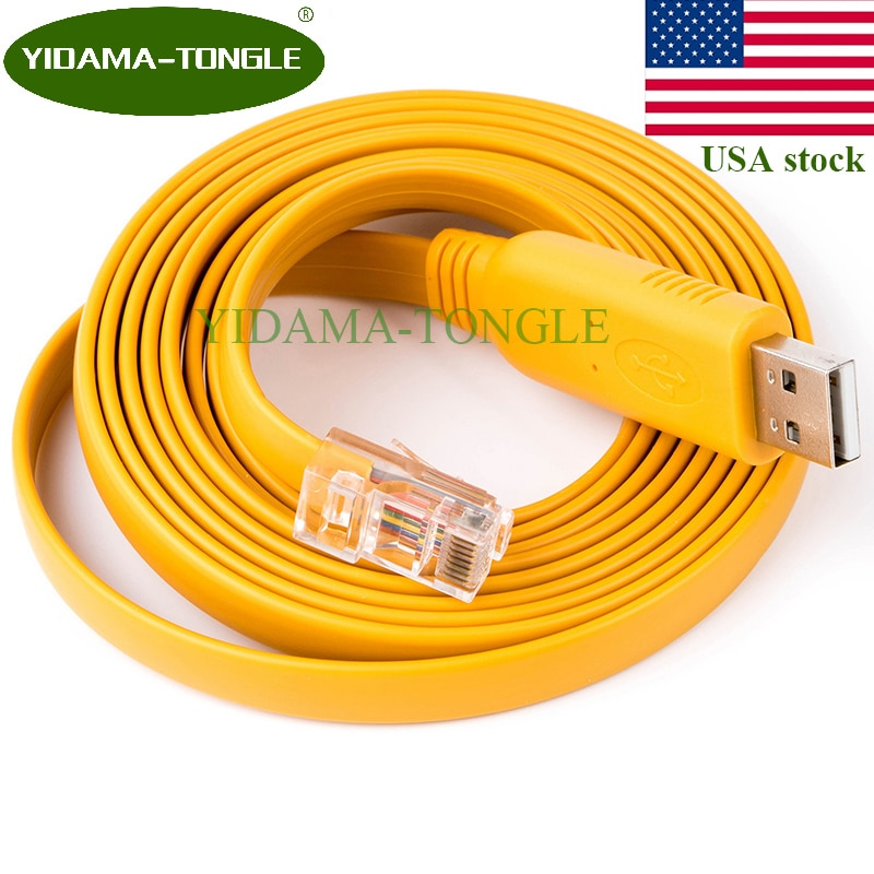 Cable Usb a Rj45, Cable de consola RS232 con Chip FTDI para...