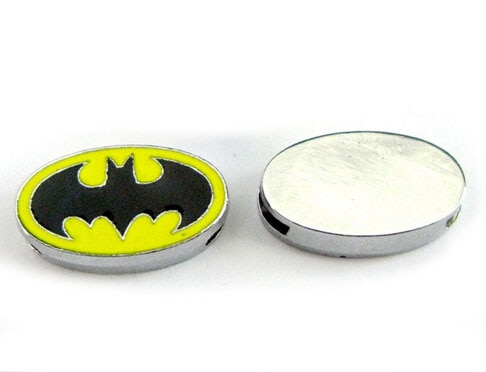 DIY Alloy Slide Charms 100PCS/lot 8MM Enamel Batman Fit For 8mm Wristband Pet Collars