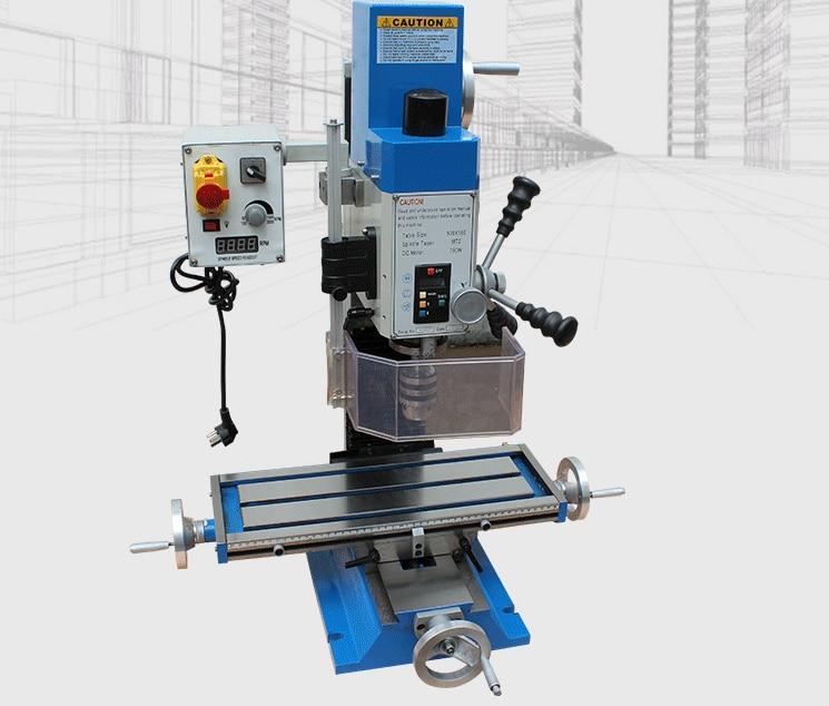 BF28 220 V-1250 W pequeña máquina de perforación multiusos micro fresadora, uso doméstico/DIY/Carpintería/procesamiento industrial