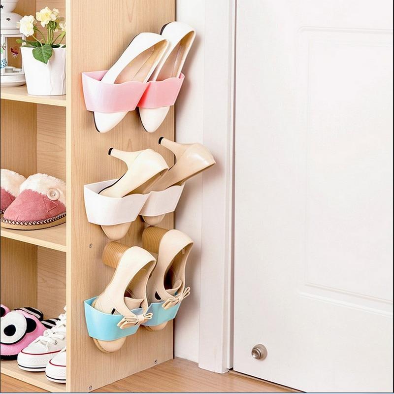 Estante para zapatos, estantes para zapatos, organizador de almacenamiento, zapatillas de montaje en pared, estante colgante, soporte para zapatillas, organizador de zapatos, gran oferta 2019