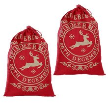 2019 gran oferta saco navideño de Papá Noel gran Navidad yute bolsa de almacenamiento de bolsa de regalo de Navidad regalos media de relleno de la nave de la gota