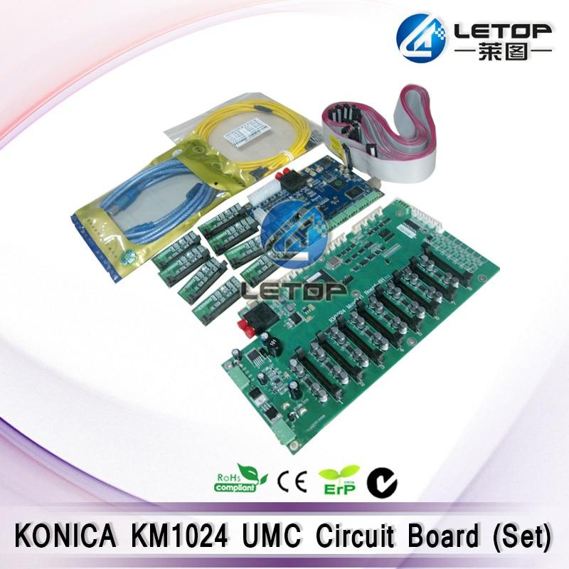 KM Konica 1024 Printhead Umc Board Set For Konica Solvent Printer
