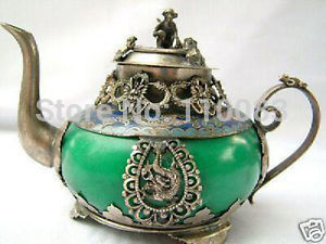 Цена по прейскуранту завода редкие китайские фарфоровые медные ручной работы старый дракон феникс бронированный чайник для вина античный ...