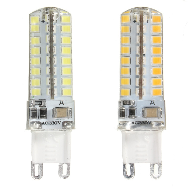 10pcs mini G9 led bulb 3W 5W 32 64leds-smd 2835 silicone led corn bulbs Warm White/Cool White 360 Degree Spot Lights 220V 10pcs lot 2 5w led bi pin lights t 33 smd 2835 210 lm warm white white ac 220 240 v g9