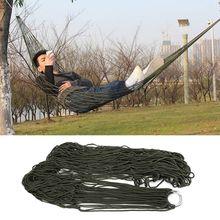 1 adet taşınabilir örgü Hamak naylon salıncak asmak Net yatak Hamak açık seyahat kamp için bahçe Hamak