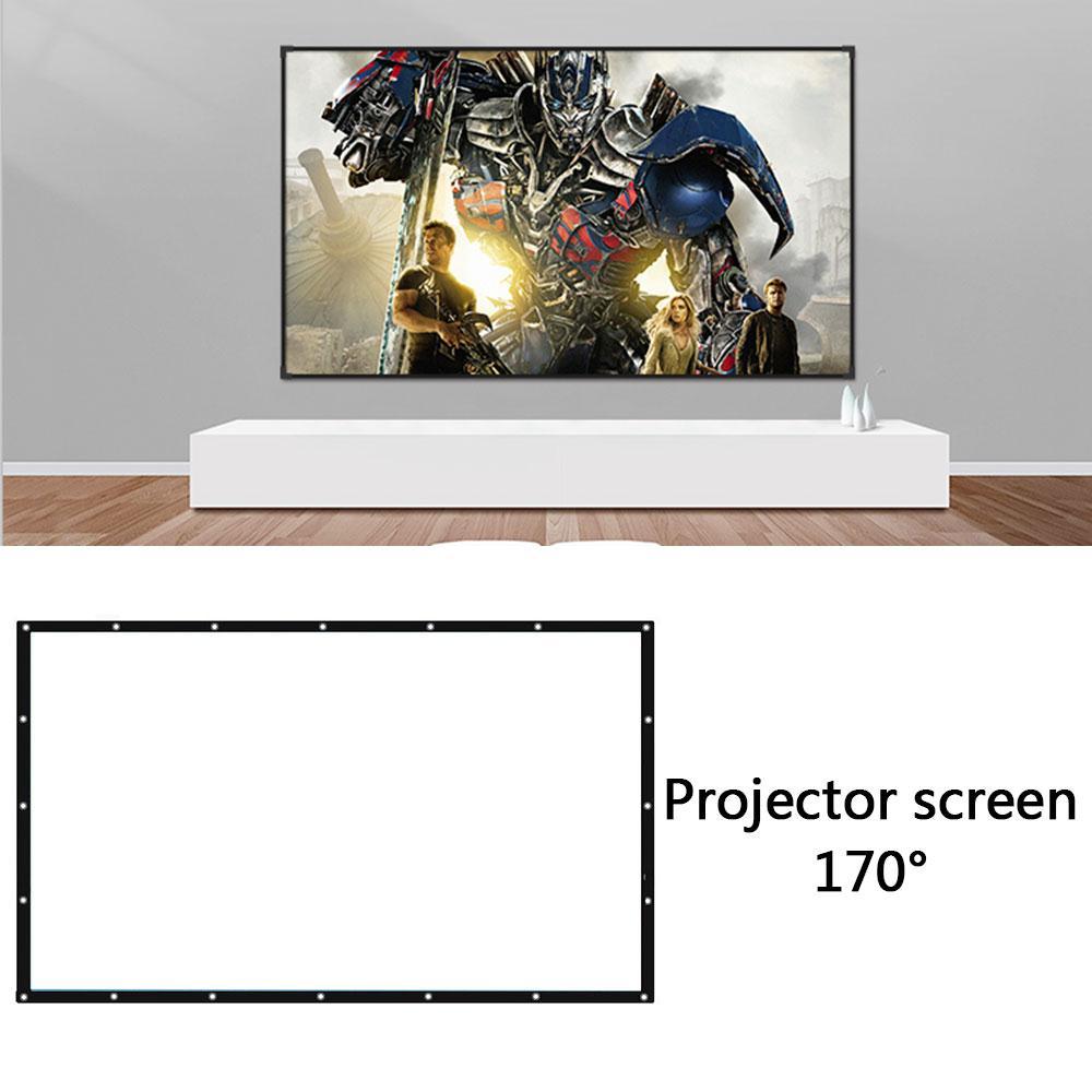 60 72 84 100 120 150 pulgadas proyector plegable 169 pantalla de proyección blanca pantalla proyector pantalla TV audio en casa-pantalla visual