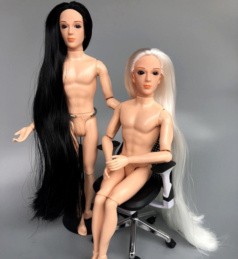 Muñeca de niño con 14 articulación movible/ojos 3D, muñeca desnuda con pelo,...