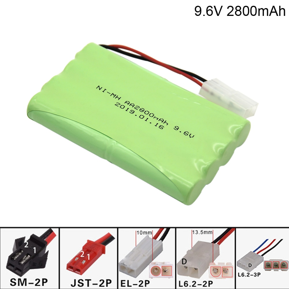 9.6V 2800mAh NI-MH battery for Remote Control Toys Car toy Boat toy Gun Tank AA 9.6v battery group toy accessories NI MH battery