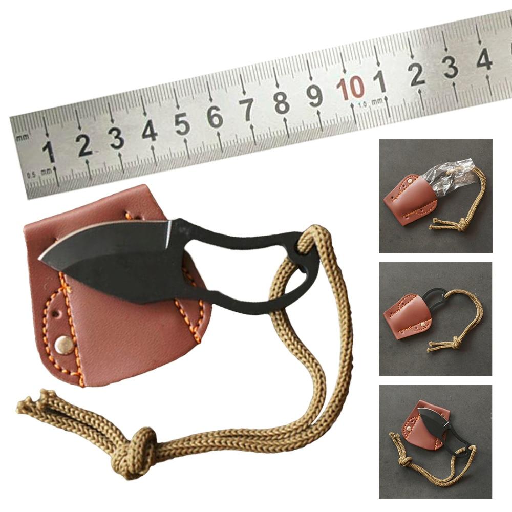 1 adet EDC dişli Mini taşınabilir cep kesici pençe bıçak yürüyüş aracı açık kamp Gadget Survival kendini savunma