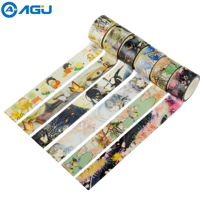 AAGU 1 шт. 20 мм * 5 м милая святая Поттер широкая лента васи 21 узоры селективная декоративная маскирующая лента для офиса клейкая лента для подел...