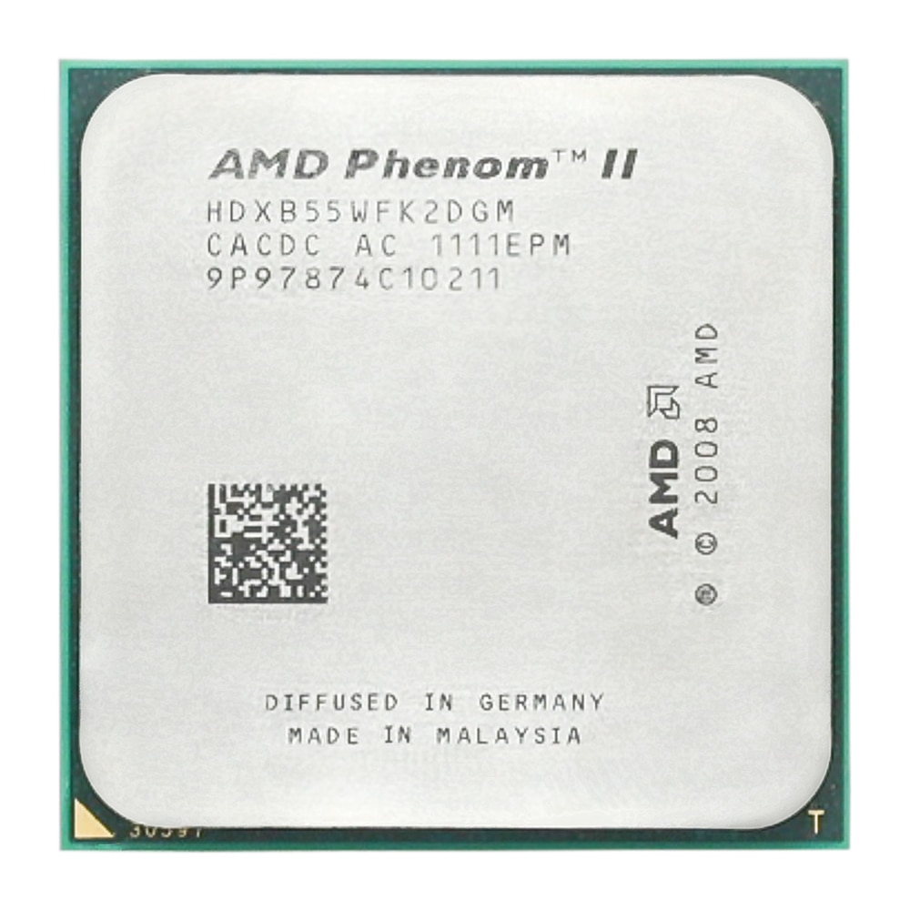 AMD Phenom II X2 B55 CPU procesador Dual-Core 3,0 Ghz/6 M/80 W/2000 GHz Socket am3 am2 +