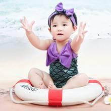 Cola de sirena traje de chica del sur de los niños traje de la princesa siameses bebé traje de baño