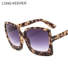 Nuevas Gafas de sol cuadradas Retro para mujer 2019, Gafas de sol de gran tamaño de diseñador de marca, Gafas de sol de moda para mujer con degradado, Gafas UV400