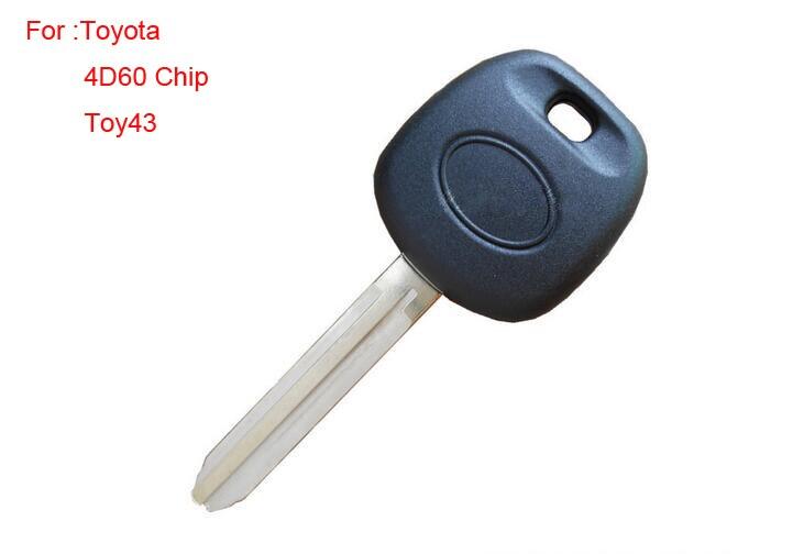 Transpondedor de repuesto de calidad superior para Toyota con Chip ID4D60 TOY43 Blade 5 unids/lote
