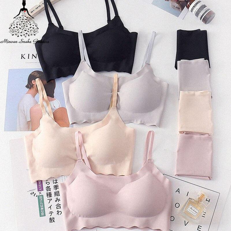 Seamless Bra Set For Women Underwear Push Up Lingerie Set Wire Free Bra And Panty Set Plus Size S M L XL Size Intimates Female