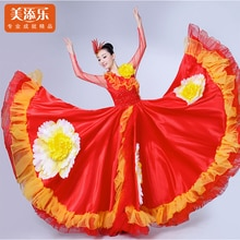 New Opening Dance Dress Female Dancing Costume Performance Stage Full Skirted Double-sleeved Wear Wo