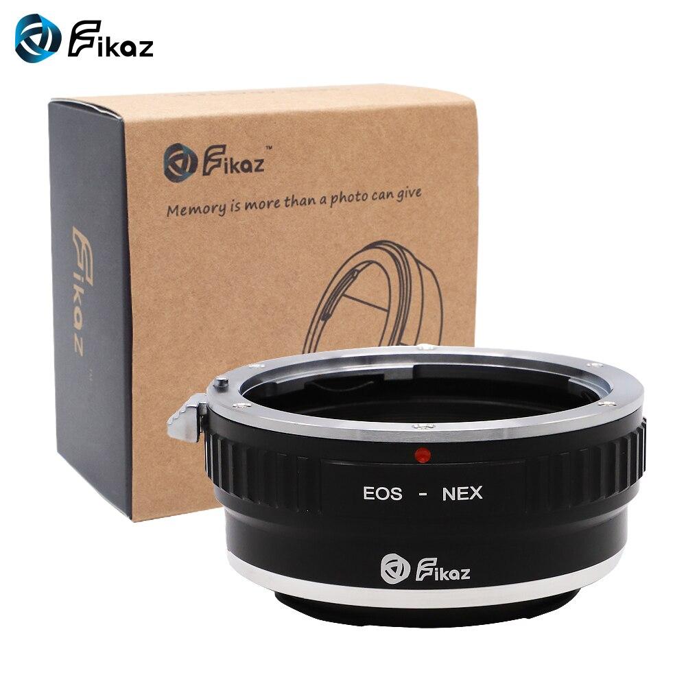 Fikaz para EOS-NEX anillo adaptador de montura de lente para Canon EOS lente Sony Nex E-mount NEX-3 NEX-5 NEX-5N NEX-7 VG Cámara