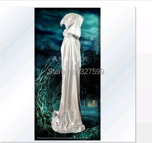 Envío Gratis nuevo oro plata púrpura nuevo terciopelo con capucha capa gótica Wicca robe medieval brujería LARP