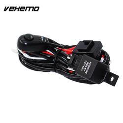 Conectando Vehemo 2 LED Auto Cablagem Kit Carro Tuning Conjunto Linha Profissional de Fiação Do Farol LED Trabalho de Condução de Luz