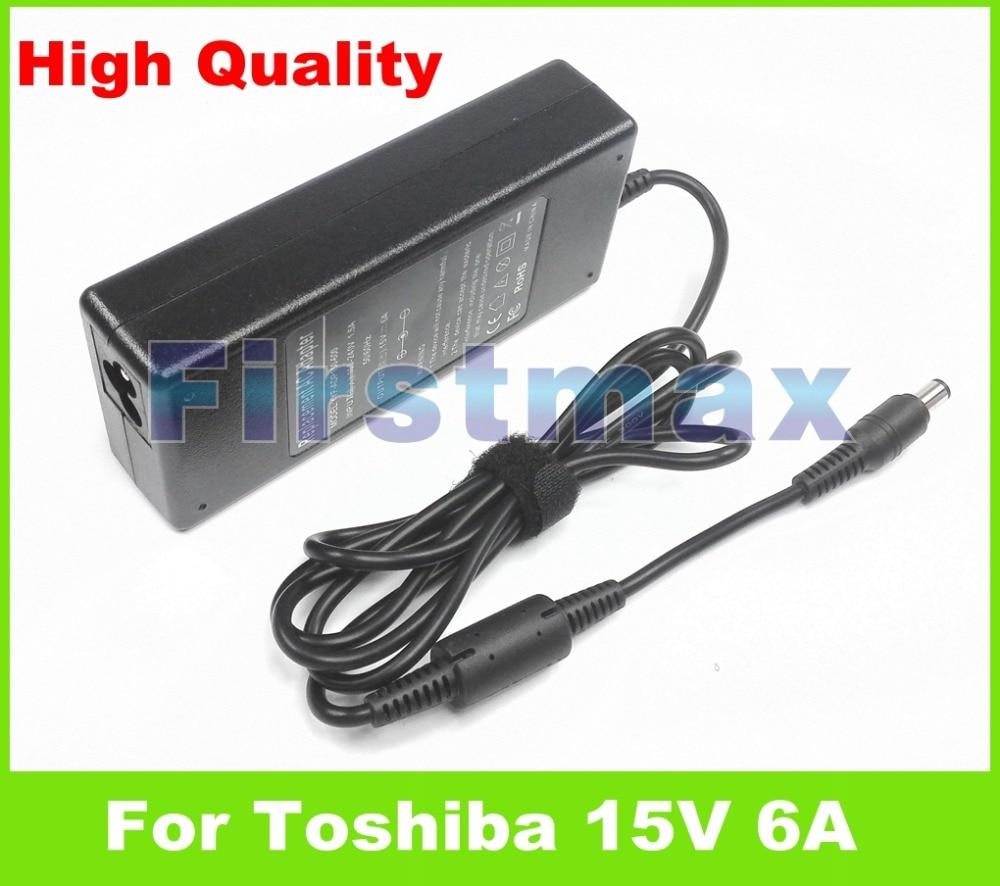 Para Toshiba 15 V 6A 90 W carregador adaptador AC do laptop para Toshiba Dynabook Qosmio F20 A9 E10 E15 F10 F15 F20 F25