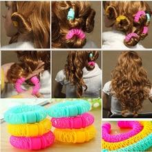 8Pcs New Magic Hair Donuts Hair Styling Roller Hairdress Magic Bendy Curler Spiral Curls DIY Tool fo