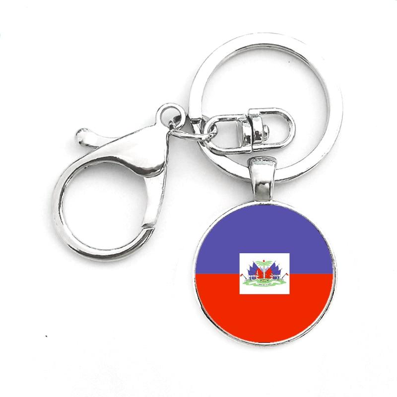 SUTEYI Haiti и Honduras и Канада Флаг Логотип Брелок празднование Дня посеребренные Подвески кольцо для ключей ювелирные изделия подарок на день отца