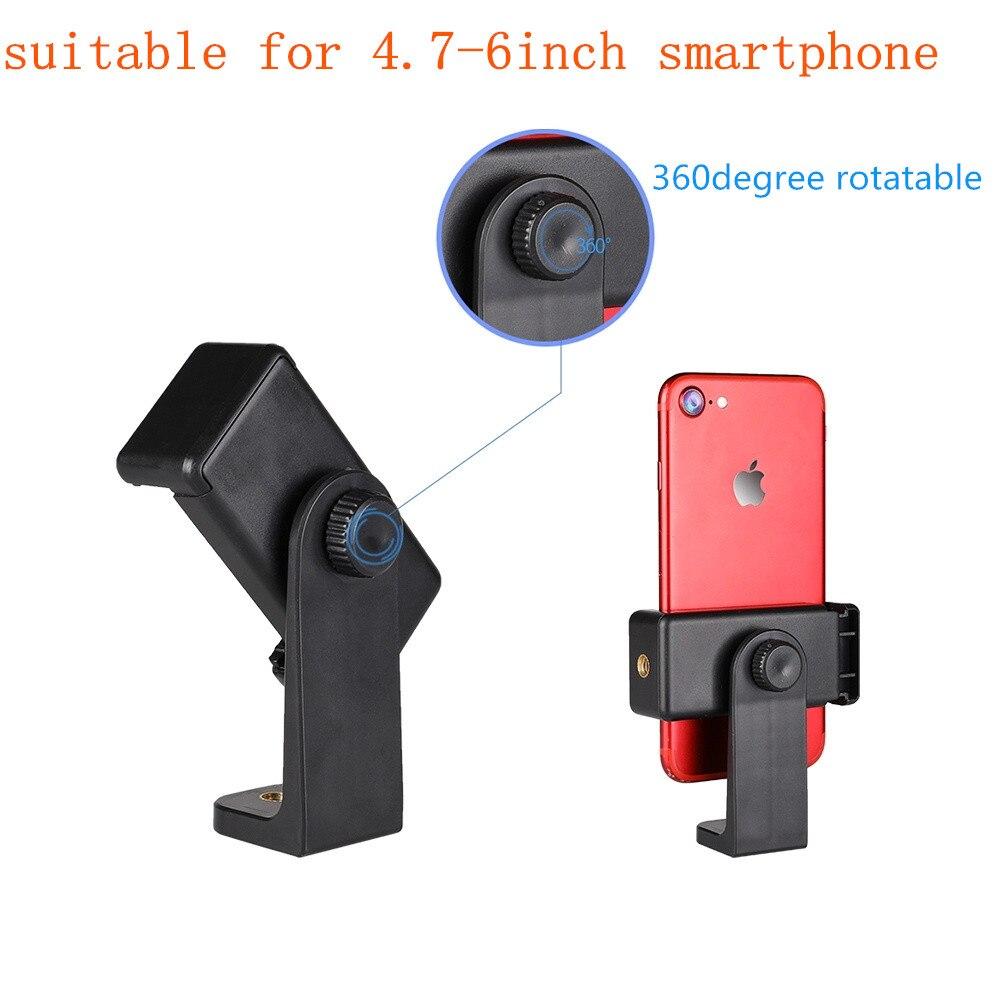 "Phone Tripod Holder Head Mount 1/4"" Screw Adapter,Rotatable Digital Camera Bracket,Selfie Lens Monopod Adjustable Ring Light"