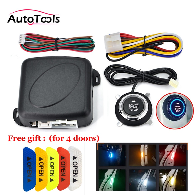 Car One START STOP Engine system Lock Ignition push button Keyless Entry Start button 12v car accessories autostart