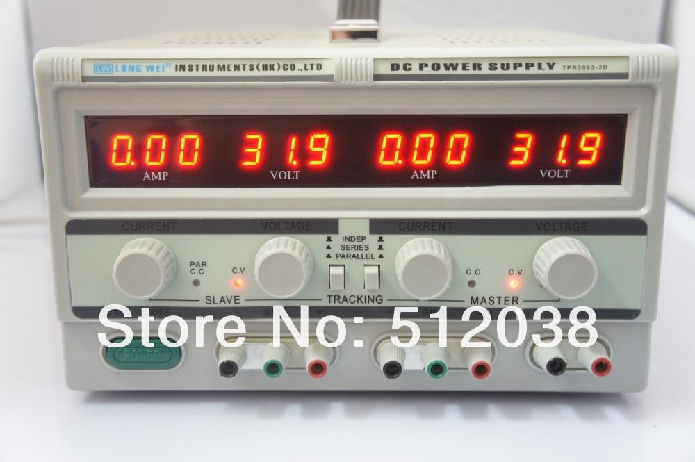 Двойной цифровой дисплей Longwei TPR-3003-2D, Регулируемый источник питания постоянного тока (2*0-30 в/2*0-3 А с фиксированным выходом 5 В/3 а)