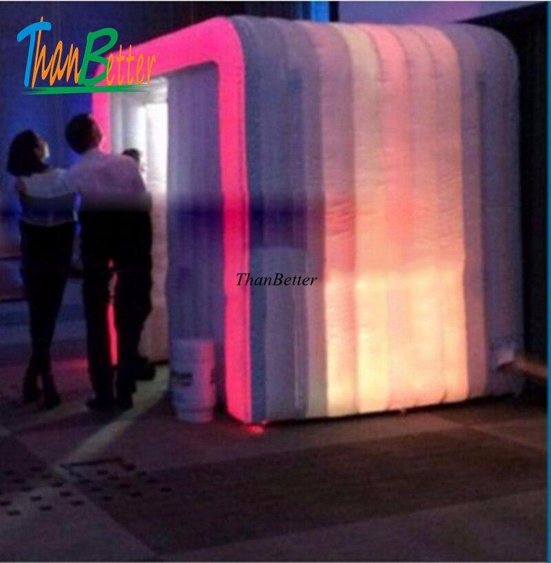 Cabina de fotos inflable de segunda mano portátil barata LED de boda ThanBetter a la venta