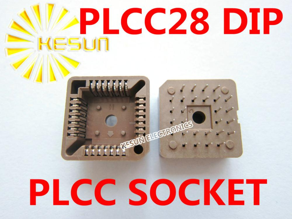 Envío Gratis 33 Uds PLCC28 PLCC 28 clavijas DIP tipo Socket IC