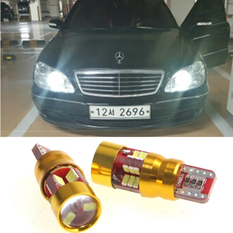 T10 W5W LED Canbus Car Dar Light Accessories For Mercedes Benz W202 W220 W124 W211 W222 X204 W164 W204 C E W203 W210 GLK R ML
