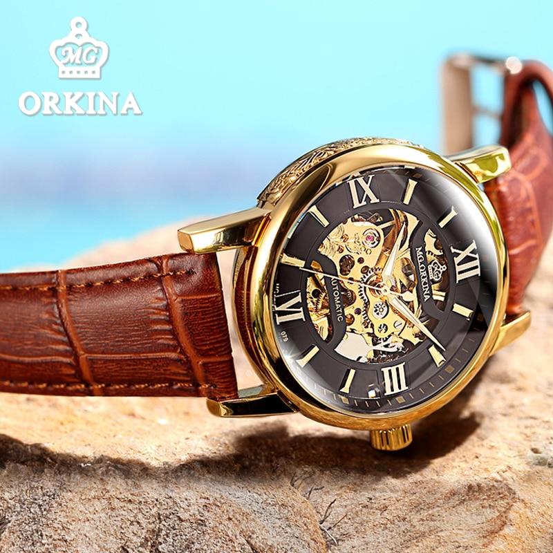 2018 negocios esqueleto reloj automático de los hombres relojes de pulsera mecánicos hombre reloj orologio donna Bvlgari mannen reloj montre