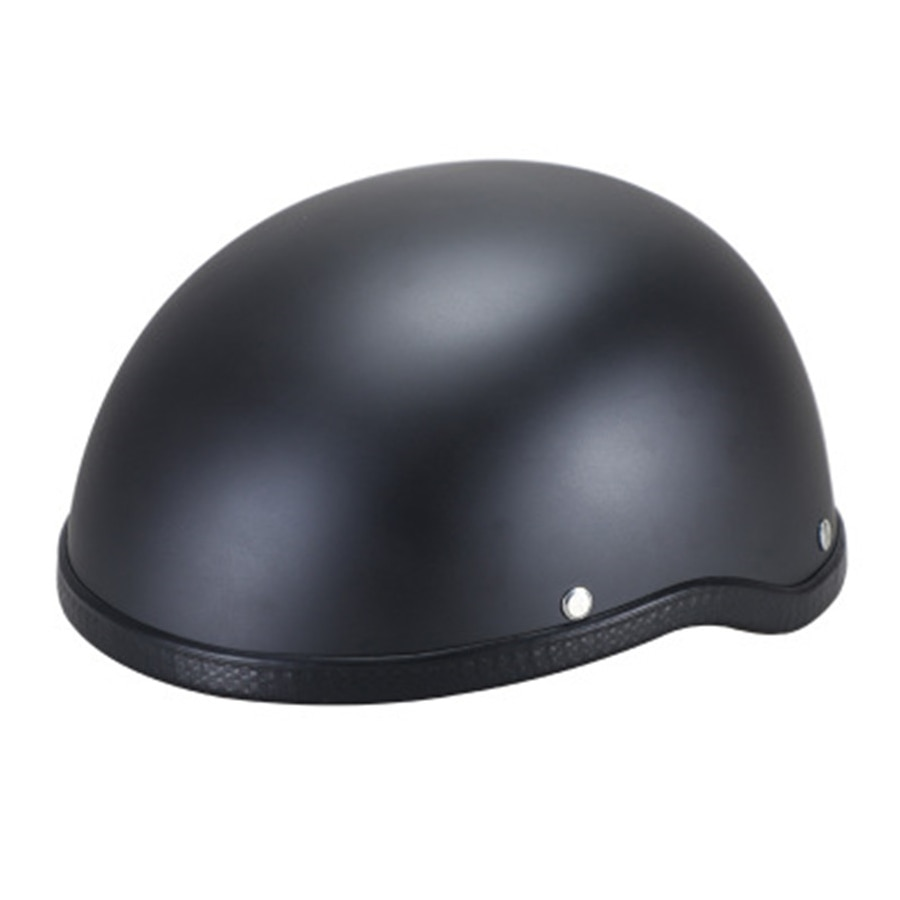 Motorbike Protection Retro Driver Half Helmet Scooter Cap Matte Black Helmet Nylon Y-Strap enlarge