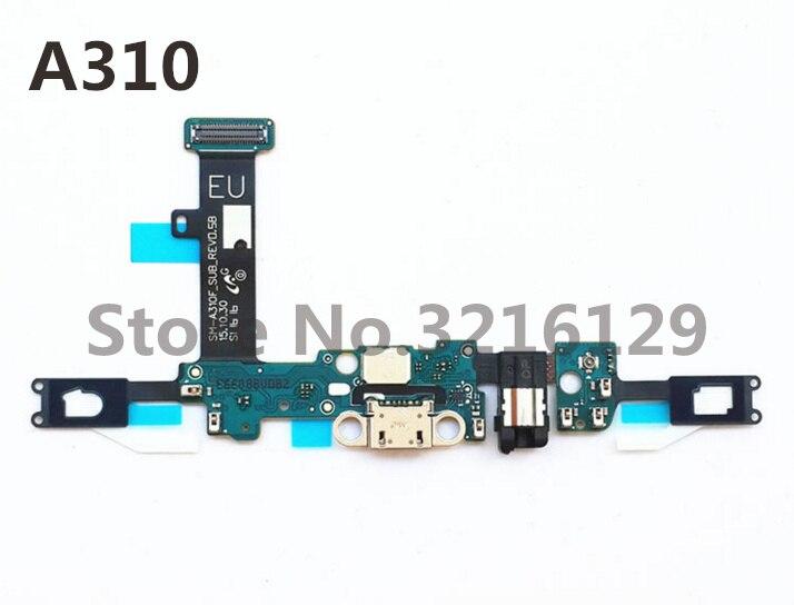 10 unids/lote nuevo muelle de cargador de conector USB puerto de carga Flex Cable para Samsung Galaxy A3 A3100 A310F 2016 envío gratis