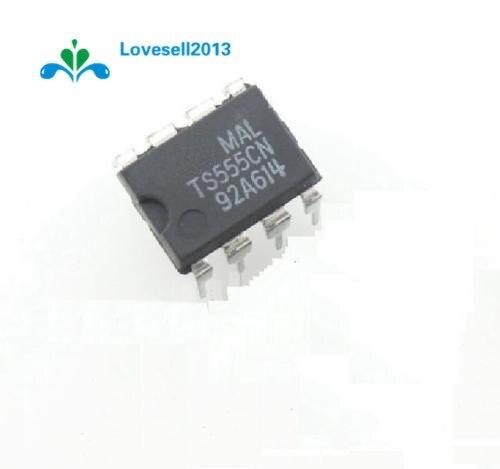 2 stks TS555CN 555 DIP8 ST IC, TIMER LOW POWER CMOS NIEUWE EEN