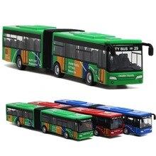18cm kinderen Metalen Diecast Model Voertuig Shuttle Bus Auto Speelgoed Kleine Baby Pull Back Speelgoed Cadeau voor kinderen
