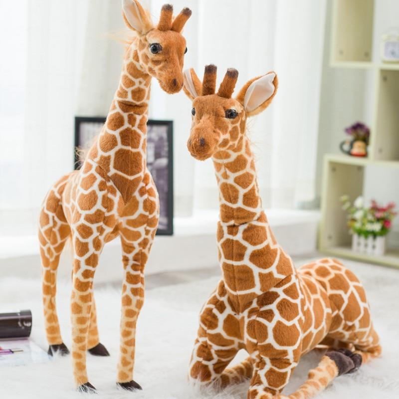 big size cute simulation fox toy resin Big Size Real Life Giraffe Plush Toys Cute Stuffed Animal Dolls Soft Simulation Giraffe High Quality Birthday Gift Kids Toy