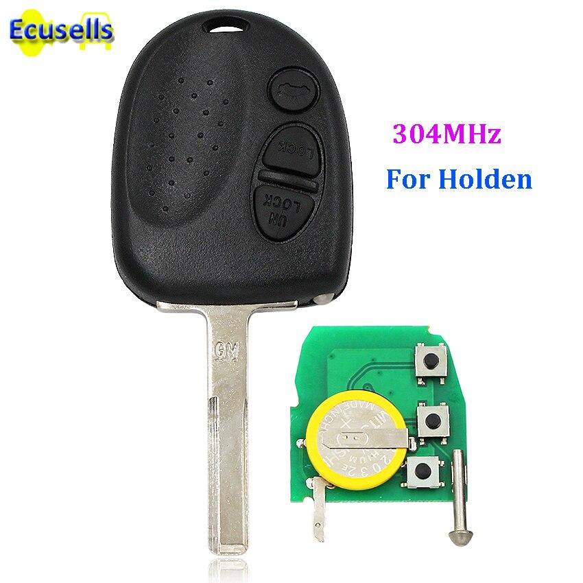 Дистанционный ключ с 3 кнопками для Holden Commodore VS VR VT VX VY VZ WK WL 304MHZ с UNCUT лезвием HU43
