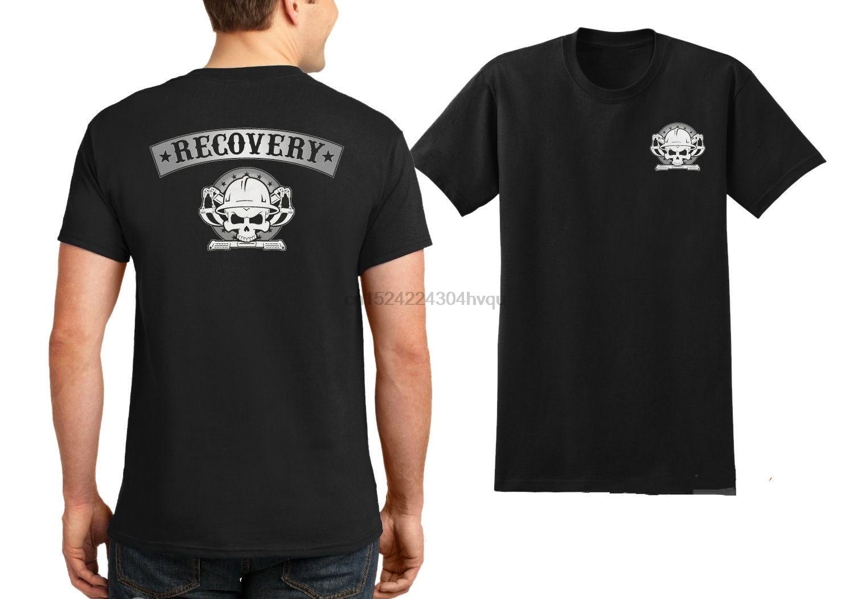 Recovery Towing T-Shirt - Repo Tow Truck Driver Skull Logo Tee Shirt - Casual Trendy Cozy Short Sleeve O Neck Tee women tshirt