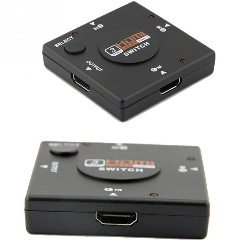 Audio Cable dividido para HDTV DVD PSP4 3 en 1 3 puerto HDMI Multi pantalla interruptor automático Centro de caja de 1080P conmutador separador de señal de salida