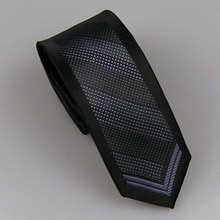 LAMMULIN Ties Men's Suit Neck Tie Border Black with Light purple Plaids Arrow Stripes Necktie Woven Jacquard Skinny Tie 6cm