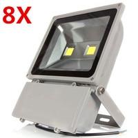 8X (Free DHL/FEDEX) AC85V-265V 100W Outdoor Led Floodlight Lamps Waterproof Led Flood light Garden Outdoor Lighting