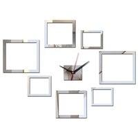 Autocollants muraux en acrylique  nouvelle mode  horloge  decoration de maison  miroir  autocollant de Surface  salon moderne
