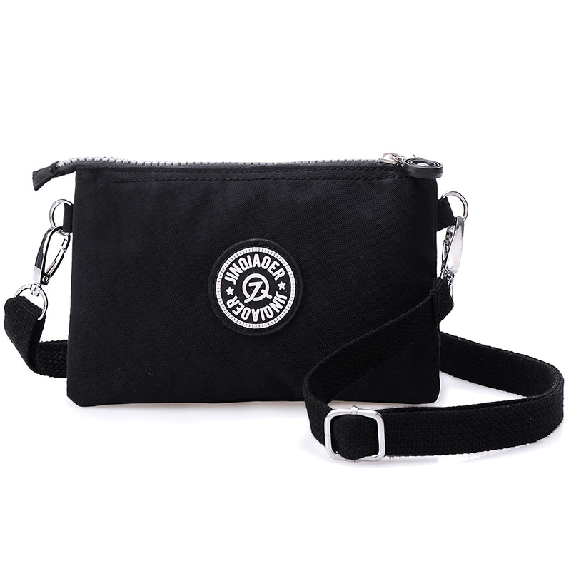 Bolsas de mensajero para mujeres, de Nylon mujer moneda monedero cremallera teléfono móvil Crossbody Bolsa Bandolera bolso de embrague