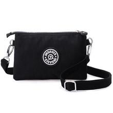 Femmes sacs de messager en Nylon femme porte-monnaie fermeture éclair téléphone portable sac à bandoulière épaule portefeuille pochette sac à main bracelets