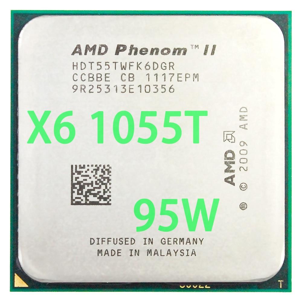 Amd phenom ii x6 1055 t processador central seis-core (2.8 ghz/6 m/95 w) soquete am3 am2 + 938 pino