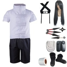 Mmgg Naruto Cosplay Neji Neji Cosplay Kostuums Hoofdband Pruik Wapen Set Custom Made Maat