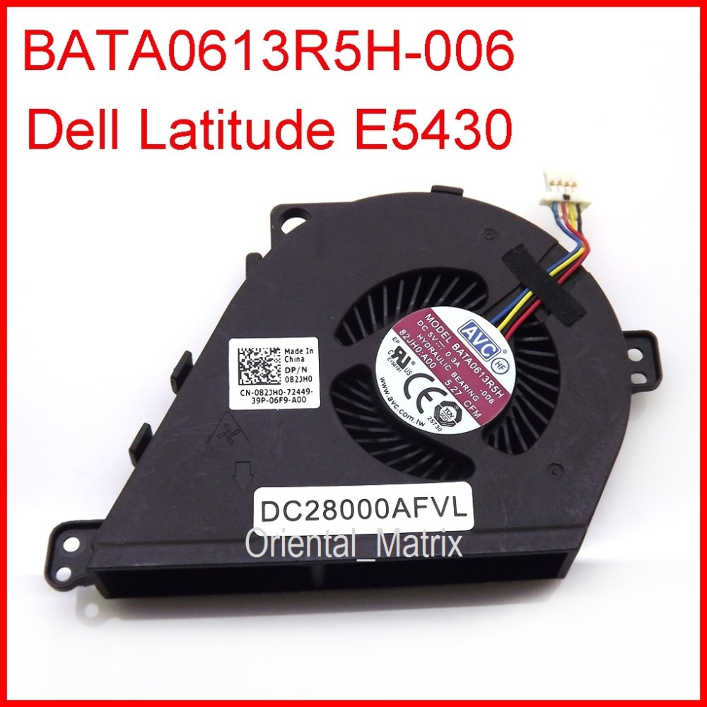 Nuevo reemplazo Original del ventilador del refrigerador DC5V 0.3A para el ventilador de la CPU del ordenador portátil de Dell Latitude E5430